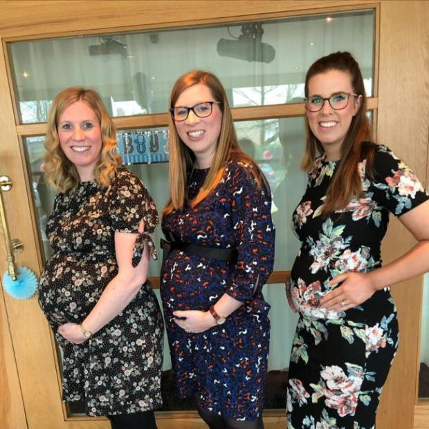 Warrington Guardian: The three sisters found out they were all pregnant at Christmas