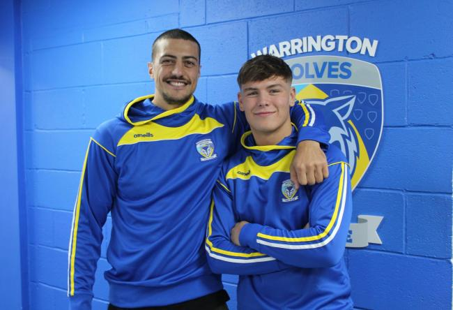 Anthony Gelling and Keanan Brand have been confirmed as Warrington Wolves players. Picture by Warrington Wolves