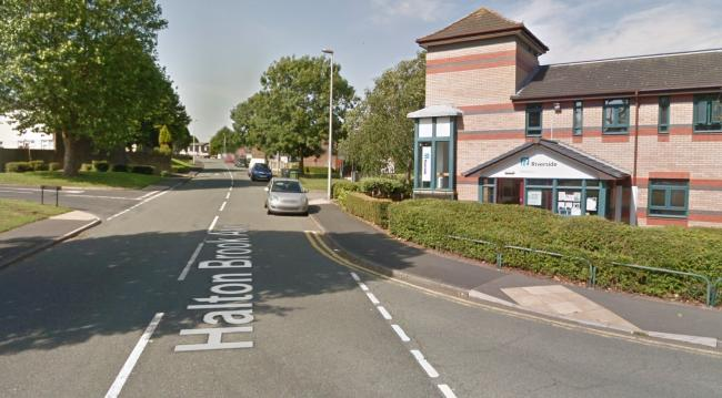 The crash occured near to the Riverside Housing Association building on Halton Brook Avenue. Picture by Google Maps.