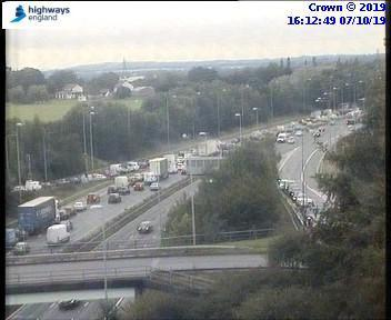 Traffic camera images from M6