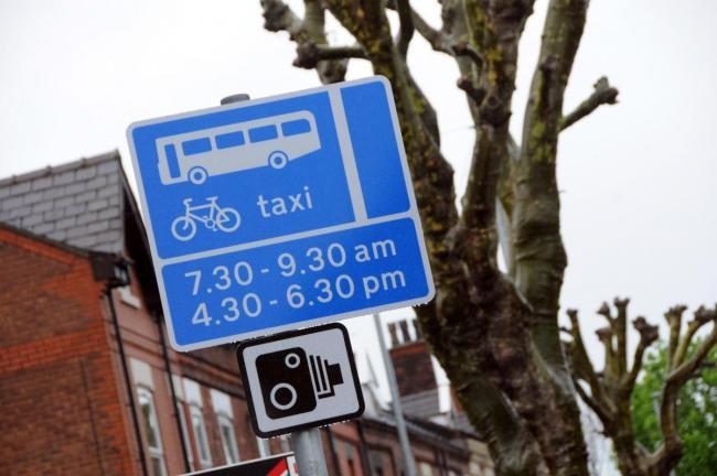 Bus lane enforcement is in place on roads across the town