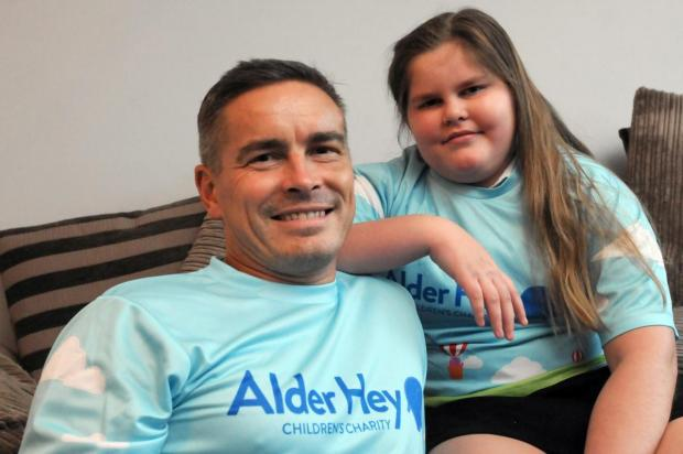 Warrington Guardian: Ella Hansford with her dad Carl
