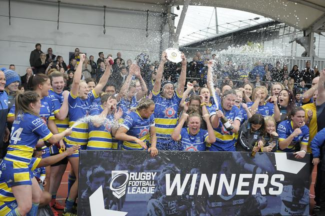 Warrington Wolves Women won promotion from the Championship this year. Picture by Mike Bodne