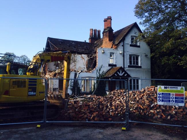 Lymm Hotel is being demolished