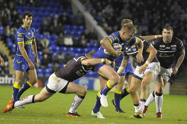Action from a clash between The Wire and Leeds Rhinos from the 2018 season. Picture by Mike Boden