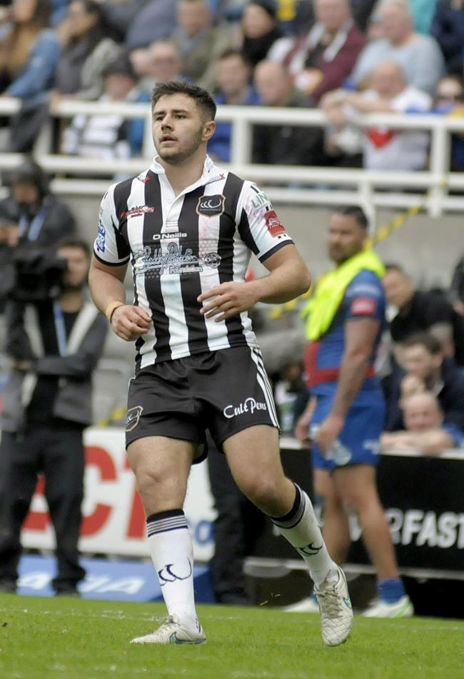 Jack Johnson in action for Widnes Vikings during a loan spell in 2017. Picture by Mike Boden