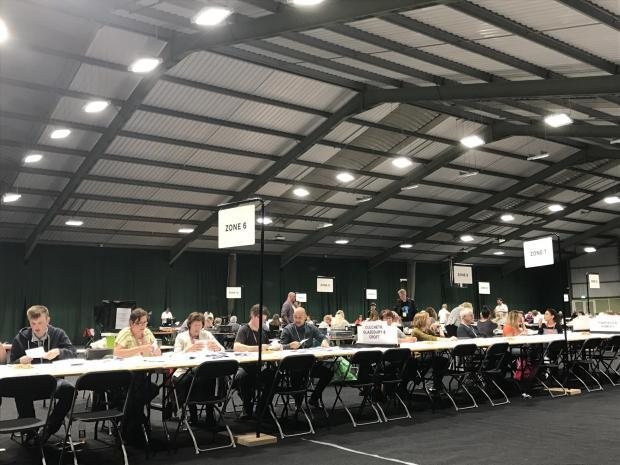 Warrington's election count took place at Birchwood Leisure Centre in 2017