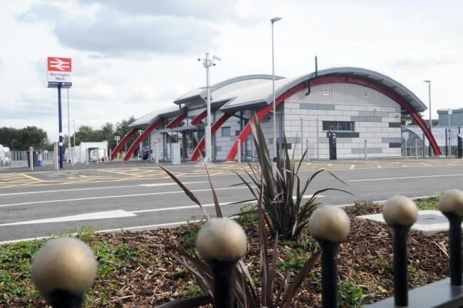 The new Warrington West station