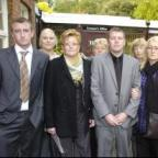 Lynn and her family outside Warrington Coroner's Court