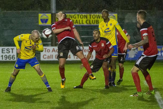 Tony Gray scores Yellows' late winner. Picture by John Hopkins