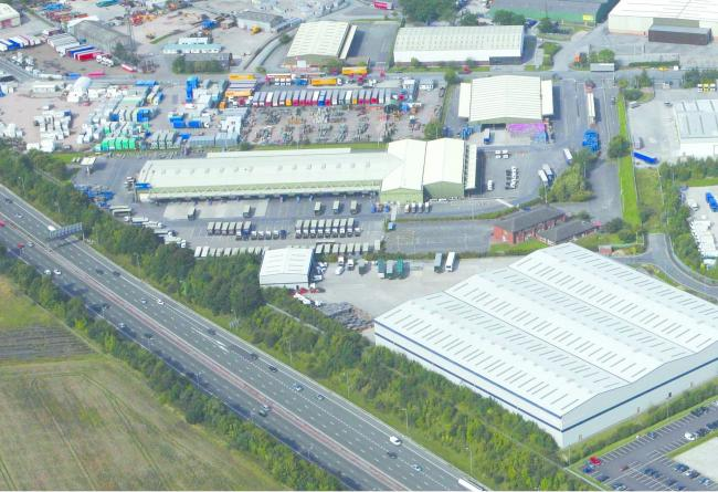 The former Travis Perkins warehouse on Appleton Thorn Industrial Estate
