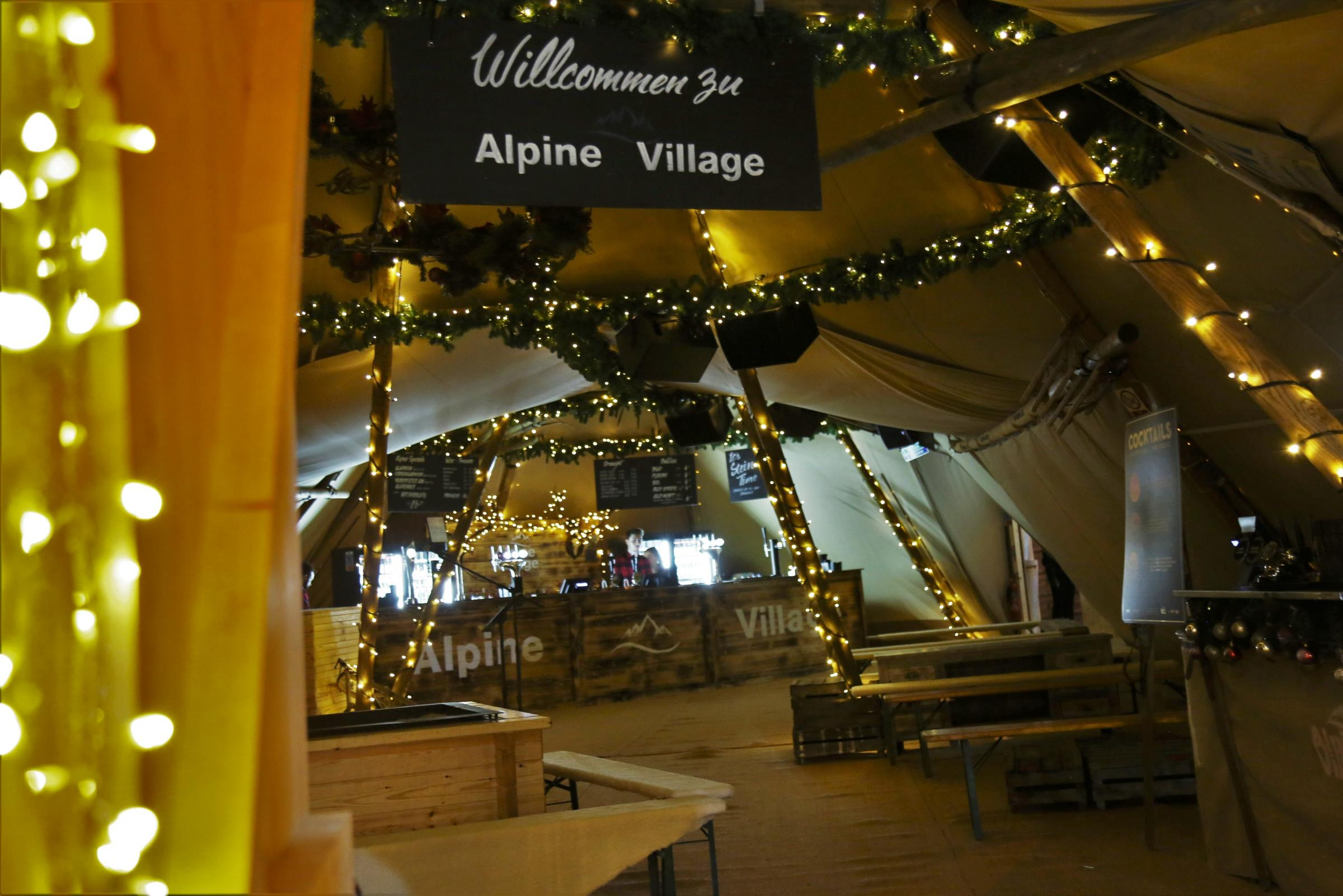 Christmas Alpine Village opens at Trafford Centre