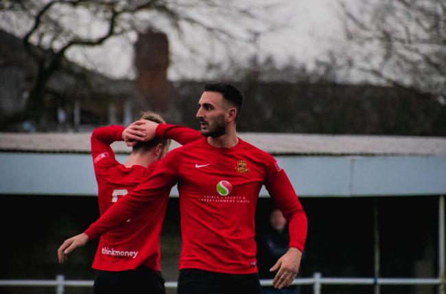 Lewis Buckley has scored two goals in his first two Rylands appearances. Picture by Mark Percy