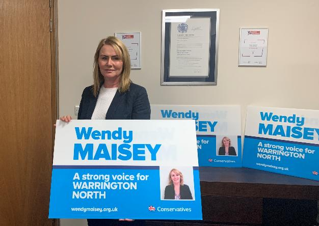 Tory Warrington North parliamentary candidate Wendy Maisey