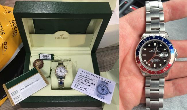 Cheshire Police have released pictures of the Rolex watches stolen during a burglary on Claydon Gardens in Rixton.