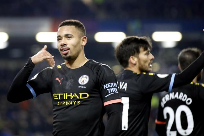 Gabriel Jesus scored twice for Manchester City at Burnley