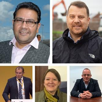 Labour's Faisal Rashid, Tory Andy Carter, Liberal Democrat Cllr Ryan Bate, the Brexit Party's Clare Aspinall and the Social Democratic Party's Kevin Hickson are standing in Warrington South