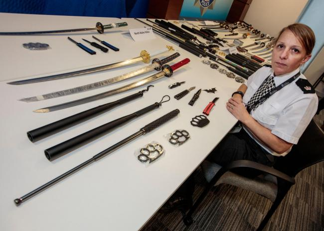 Weapons seized by the North West Regional Crime Unit which were due to be delivered to the Cheshire area.