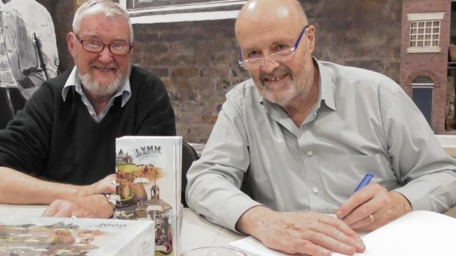 Alan Taylor and Alan Williams sign some books
