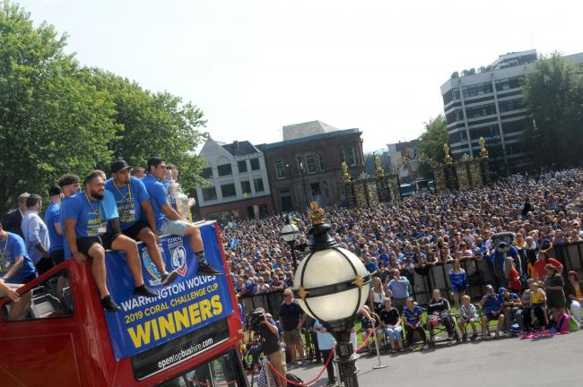 The Challenge Cup homecoming parade of last year. Picture by Dave Gillespie
