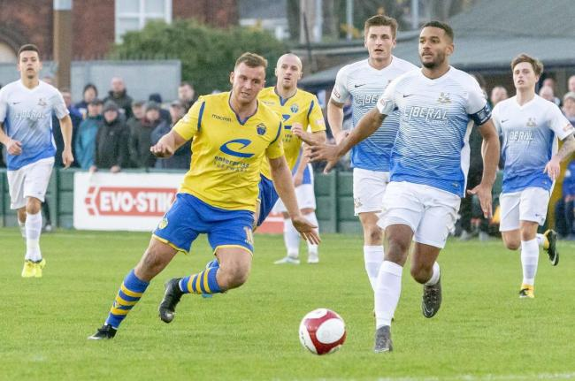 Warrington Town and Basford United drew 1-1 when they met at Cantilever Park last season. Picture by John Hopkins