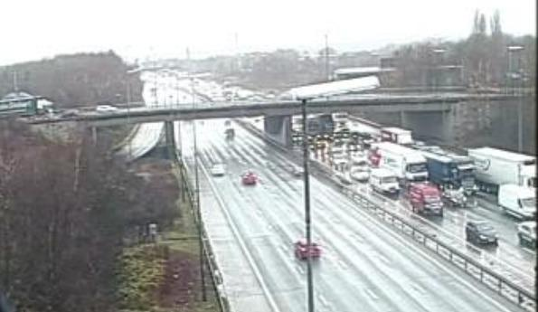 There are long delays on the M56 and M6 this afternoon