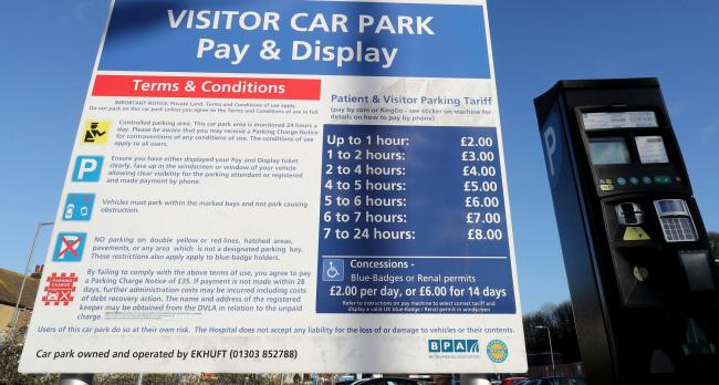 Free hospital parking for some NHS patients and visitors. Pic credit: PA