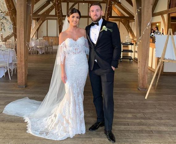 Warrington Wolves star Daryl Clark was married to partner Leigh Asquith at the weekend. Picture courtesy of Instagram/Daryl Clark