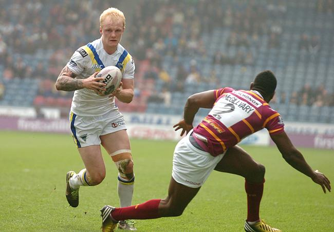 Rhys Evans playing for Warrington Wolves in 2014. Picture: Mike Boden
