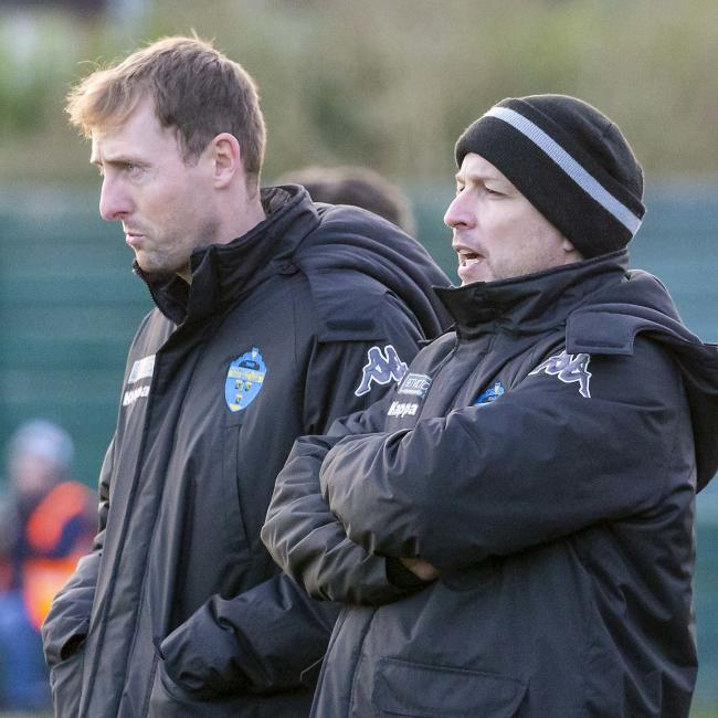 Yellows boss Paul Carden, right, with assistant manager Mark Beesley. Picture by John Hopkins