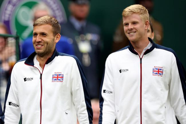Dan Evans (left) and Kyle Edmund