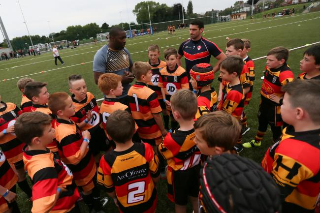 Youths are set to learn from rugby legends- picture by Paul Currie