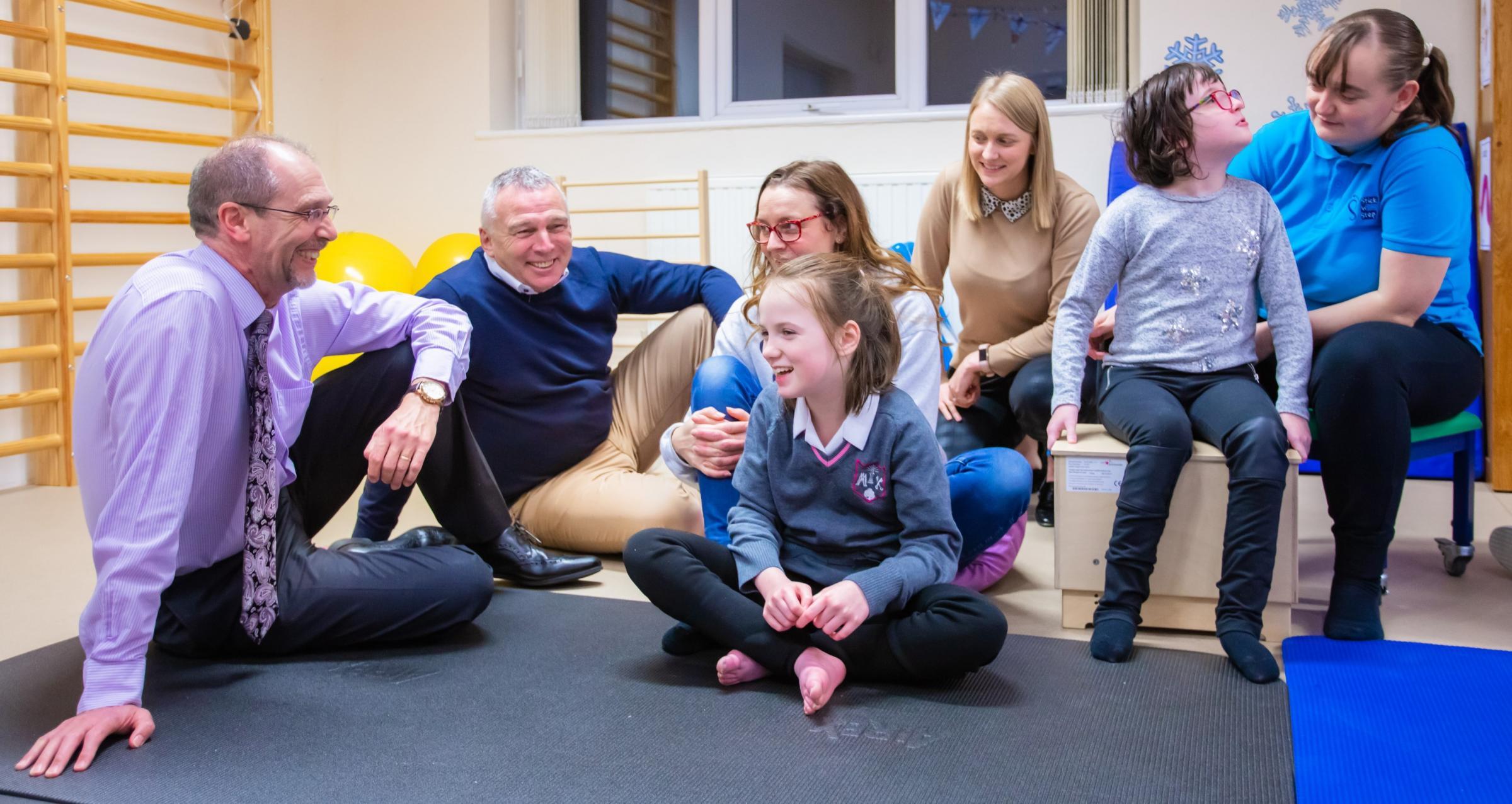 Sci-Tech Daresbury donates £10,000 to Stick 'n' Step charity
