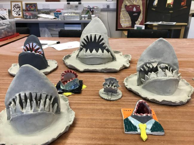 An 'army of sharks' will be made during the workshops at James Lee House, with the sculptures set to go on show in Golden Square Shopping Centre.