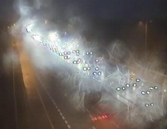 Long delays on M62 as lane closed in Warrington