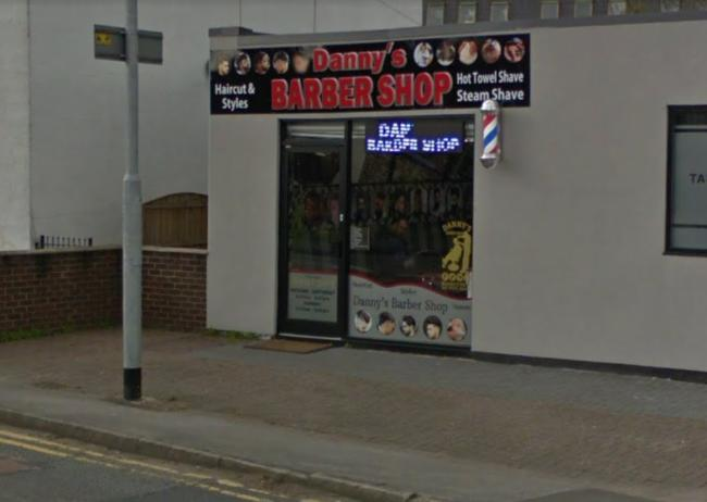 Danny's Barber Shop in Culcheth has been fined £15,000 by the Home Office. Picture by Google Maps.