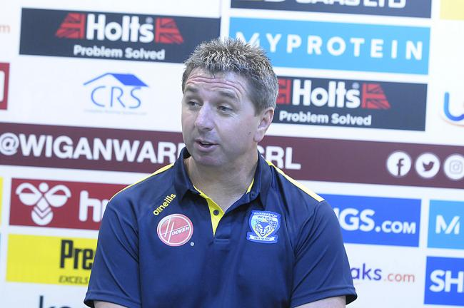 Warrington Wolves head coach Steve Price. Picture: Mike Boden