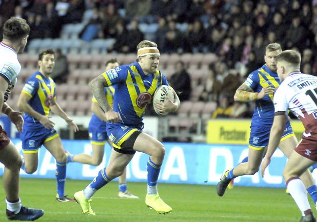 Blake Austin on the attack against Wigan. Picture: Mike Boden