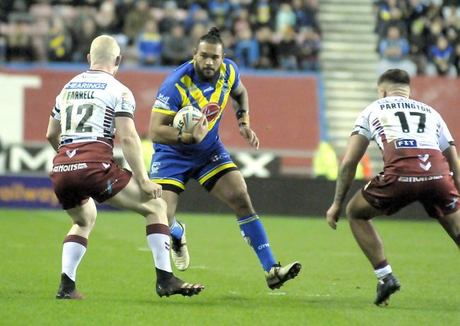 Ben Murdoch-Masila in action against Wigan.                               Picture: Mike Boden