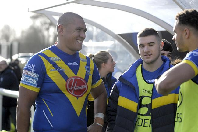 Leilani Latu chats with new Wire teammates at Saturday's reserves game. See reports and pictures on page 77.                                               Picture: Mike Boden