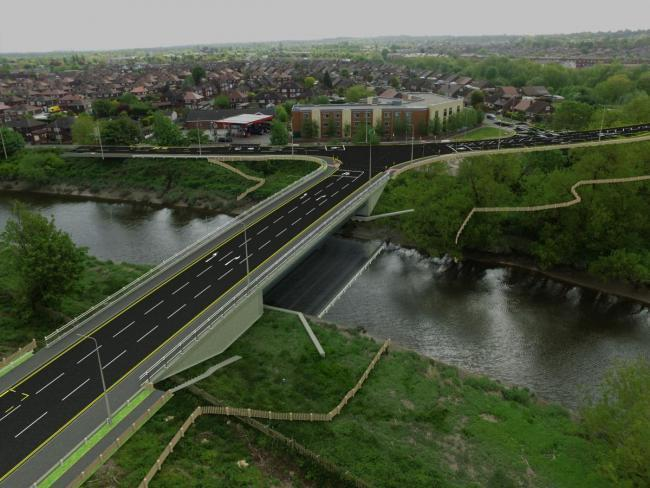 How the Centre Park link road could look after completion