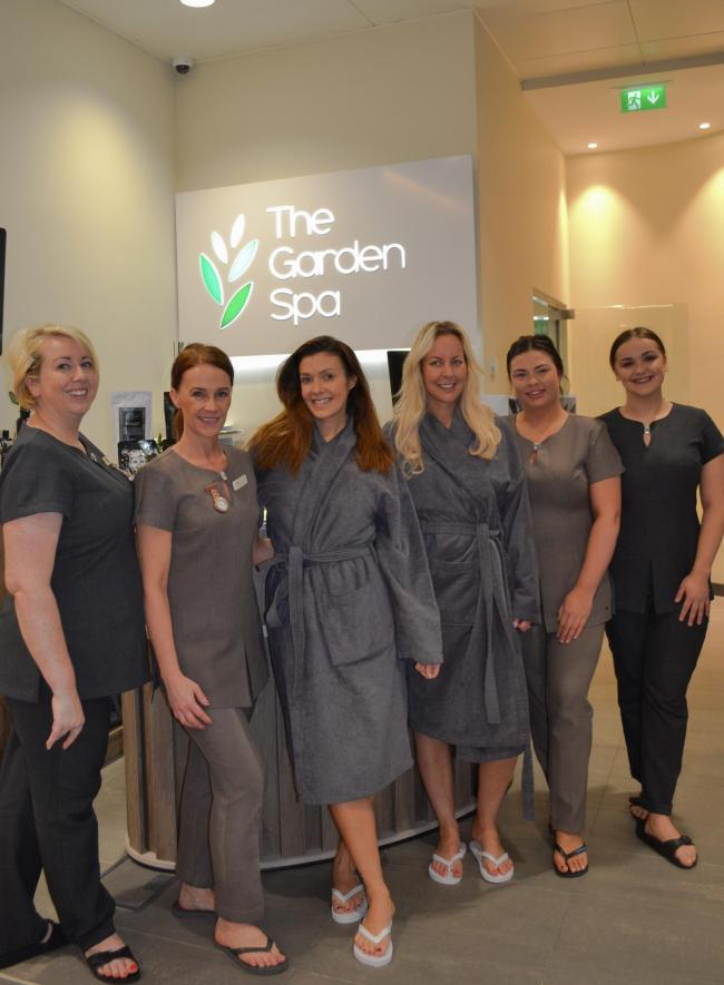 Kym Marsh enjoyed a spa day at the Garden Spa