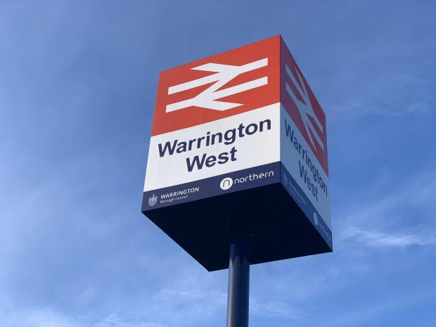 Warrington West railway station