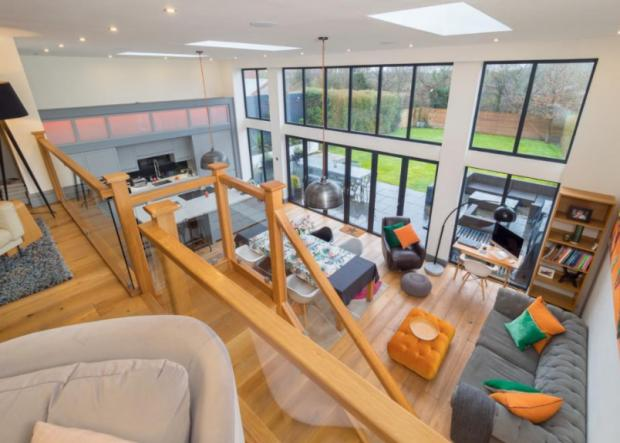 Warrington Guardian: An amazing extension has been added to the back of the house