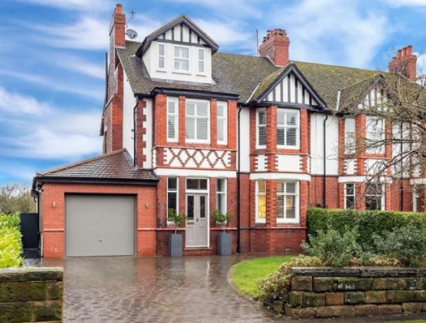 Warrington Guardian: The front of the semi detached home