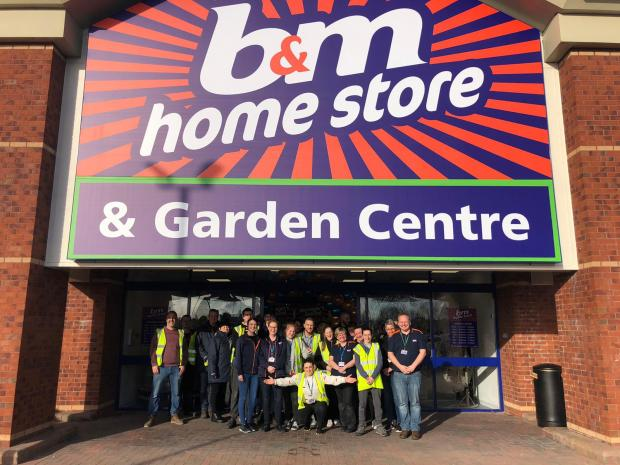 Warrington Guardian: The team at the new B&M store