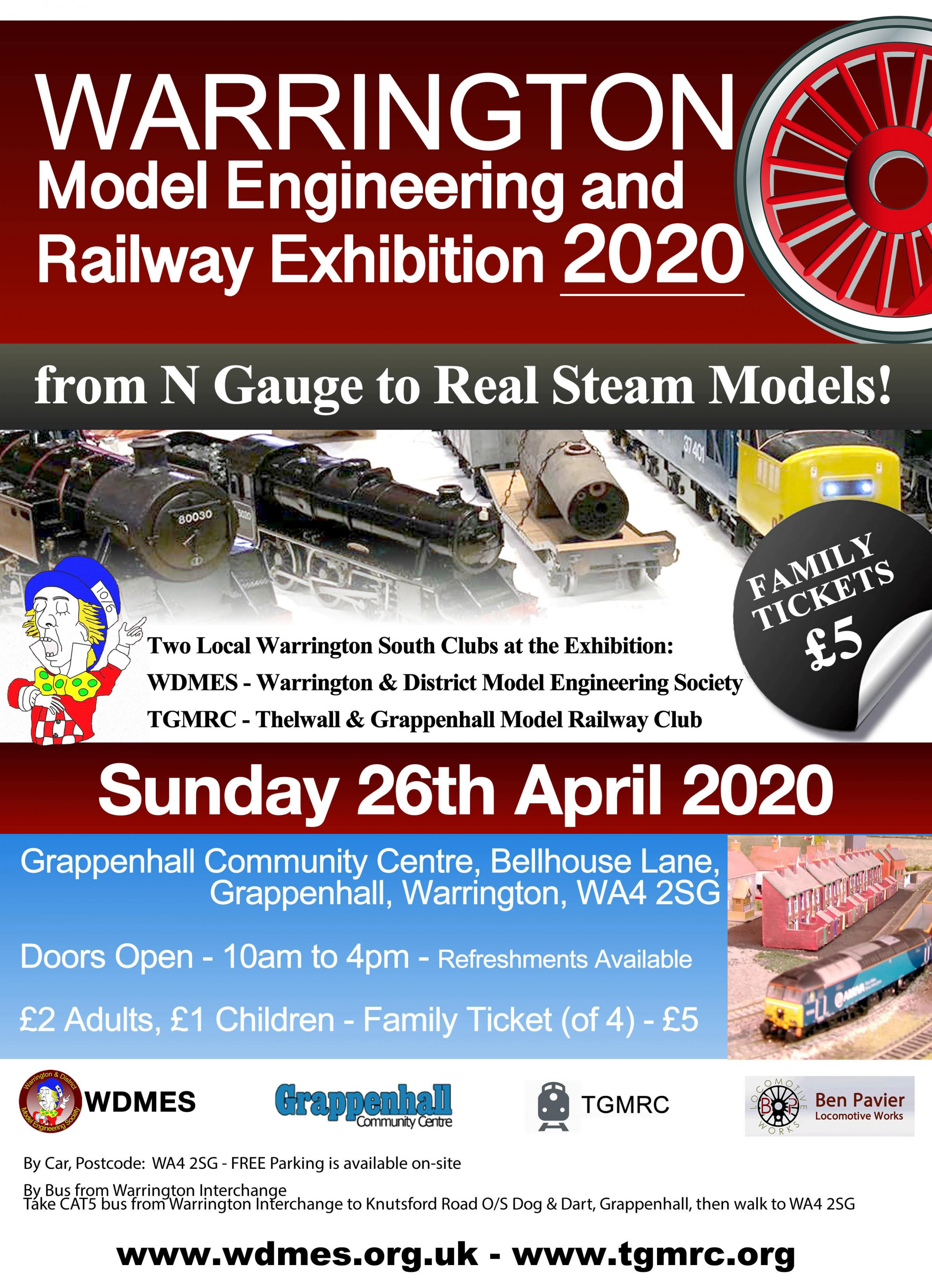 Warrington Model Engineering and Railway Exhibition 2020