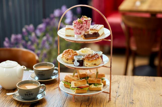 Afternoon tea at Bistrot Pierre
