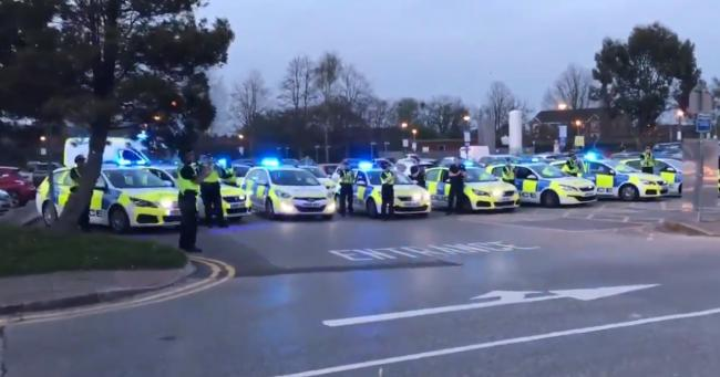Warrington Police showed their support for NHS workers