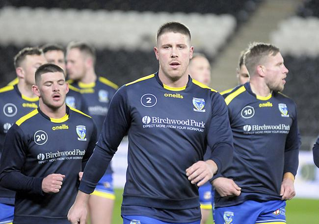 Tom Lineham on his last outing with Wolves against his former club Hull FC on March 12, ahead of the UK lockdown due to the coronavirus pandemic. Picture: Mike Boden